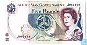 Isle of Man 5 pounds 1983