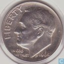 Coins - United States - United States 1 dime 1964