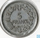 Coins - France - France 5 francs 1947 (aluminium - without B, 9 opened)