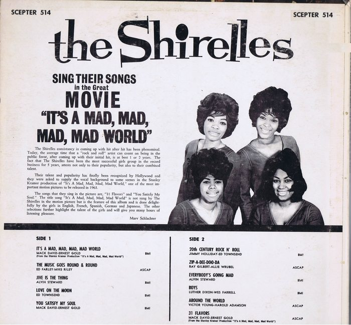 the shirelles lp sing 39 it 39 s a mad mad mad mad world 39 and. Black Bedroom Furniture Sets. Home Design Ideas