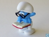 smurf with glasses