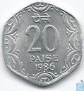 Indien 20 Paise 1986 (Hyderabad)