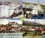 Slovenian town on old postcards