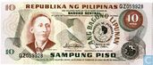"PHILIPPINES 10 Piso 1981 ""Inauguration Marcos"""