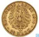 Prusse 20 mark 1874 (A)