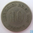 German Empire 10 pfennig 1889 (A)