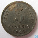 German Empire 5 pfennig 1919 (E)