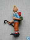 Tintin with walking stick (Varia 1)