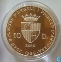 "Andorra 10 diners 1996 (PROOF) ""25th anniversary - Alanis"""