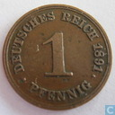 German Empire 1 pfennig 1891 (F)