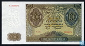 Billets de banque - Pologne - 1939-1941 German Occupation Issue - Pologne 100 Zlotych 1941