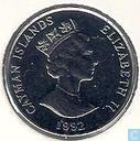 Cayman Islands 25 cents 1992