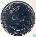 Cayman Islands 25 cents 1990
