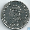French Polynesia 20 francs 1973