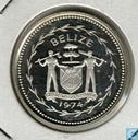 "Belize 50 cents 1974 (PROOF) ""Avifauna of Belize - Frigate Birds"""
