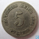 German Empire 5 pfennig 1889 (F)