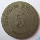 German Empire 5 pfennig 1876 (H)