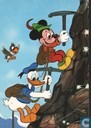 Donald Duck en Mickey Mouse als bergbeklimmers