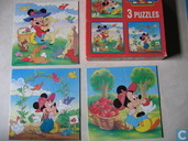 Mickey for kids - 3 puzzel