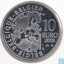 "België 10 euro 2008 (PROOF) ""100th anniversary of Maurice Maeterlinck's play - l'Oiseau bleu"""