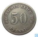 German Empire 50 pfennig 1876 (H)
