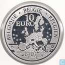 "België 10 euro 2010 (PROOF) ""100th anniversary of the birth of Django Reinhardt"""