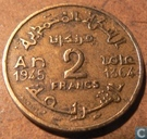 Morocco 2 francs 1945 (year 1364)
