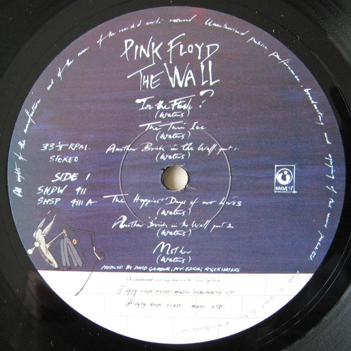 Pink Floyd 2lp The Wall Harvest Shdw 411 1979 Uk