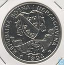 "Bosnia and Herzegovina 500 dinara 1994 ""Preserve Planet Earth Series - Gray Wolf"""