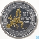 "Belgien 10 Euro 2011 (PROOF) ""Picard - Belgian Deep Sea Exploration"""