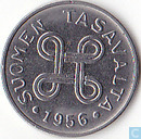 Finland 1 markka 1956 (long 6 and 9)