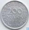 German Empire 200 mark 1923 (G)