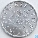 German Empire 200 mark 1923 (A)