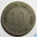German Empire 10 pfennig 1890 (F)