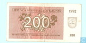 Lithuania 200 talonas 1992