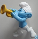 Music smurf with trumpet
