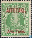 King Edward VII with overprint