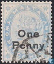 Queen Victoria with overprint