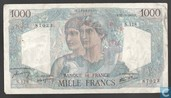 "1000 francs ""Minerva and Hercules"