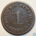 German Empire 1 pfennig 1892 (F)