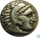 Oldest item - Kingdom Macedonia-AR Drachma Alexander the great Kolophon 319-310 BC.