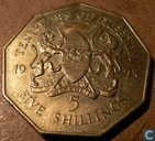 "Kenya 5 shillings 1973 ""10th anniversary of independence"""
