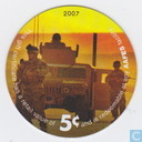 AAFES 5c 2007 Military Picture Pog Gift Certificate 10M51