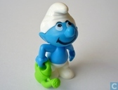Smurf with watering-can
