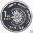 "France 1½ euro 2004 (PROOF) ""world travel 2nd Edition Expedition Beirut-Beijing"""