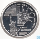 """1½ euro 2004 France (PROOF) """"100th anniversary of the death of Frederic Auguste Bartholdi"""""""