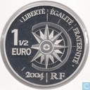 "1½ euro 2004 France (PROOF) ""world travel 2nd Edition flight line Paris-London"""