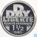 "Frankrijk 1½ euro 2004 (PROOF) ""60th anniversary of the D -  Day"""