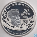 "France 20 euro 2006 (PROOF) ""100th anniversary of the death of Jules Verne Michel Strogoff"""