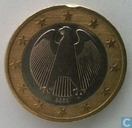 Germany 1 euro 2002 (F - misstrike - turned star)